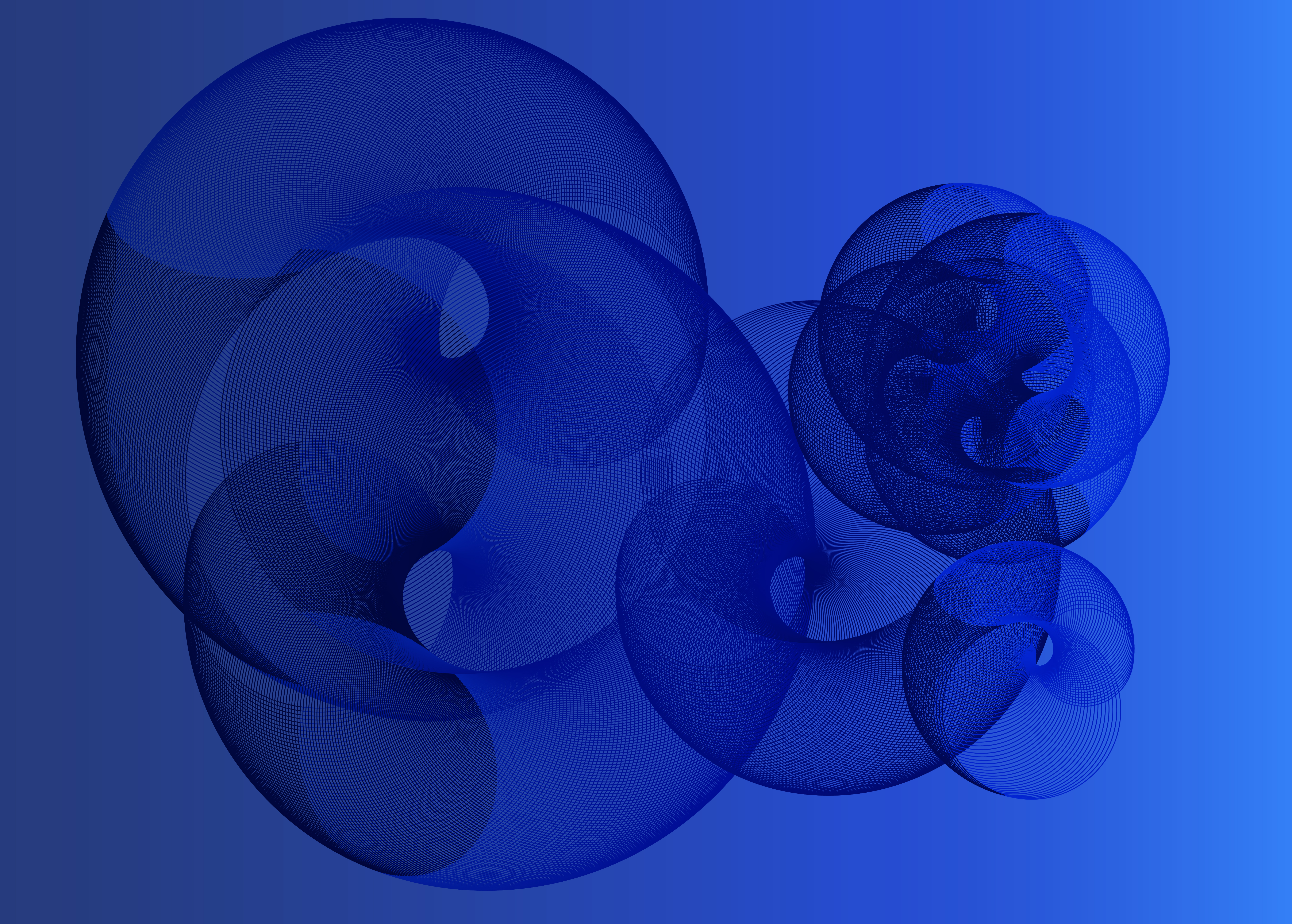 circles in blue, pattern, illustrator